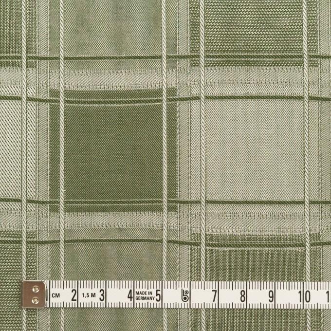 コットン×チェック(アイビーグリーン)×風通織(二重織) イメージ4
