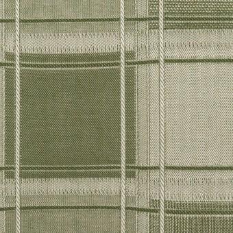 コットン×チェック(アイビーグリーン)×風通織(二重織) サムネイル1