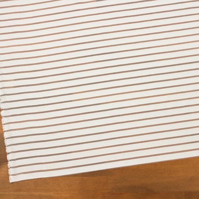 コットン&ポリエステル×ボーダー(オフホワイト)×オーガンジー・ジャガード_全2色 イメージ2