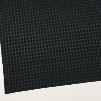 コットン&シルク×チェック(ブラック)×オーガンジー・ジャガード サムネイル2