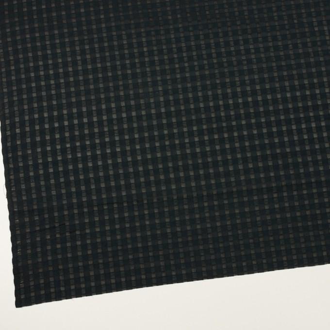 コットン&シルク×チェック(ブラック)×オーガンジー・ジャガード イメージ2