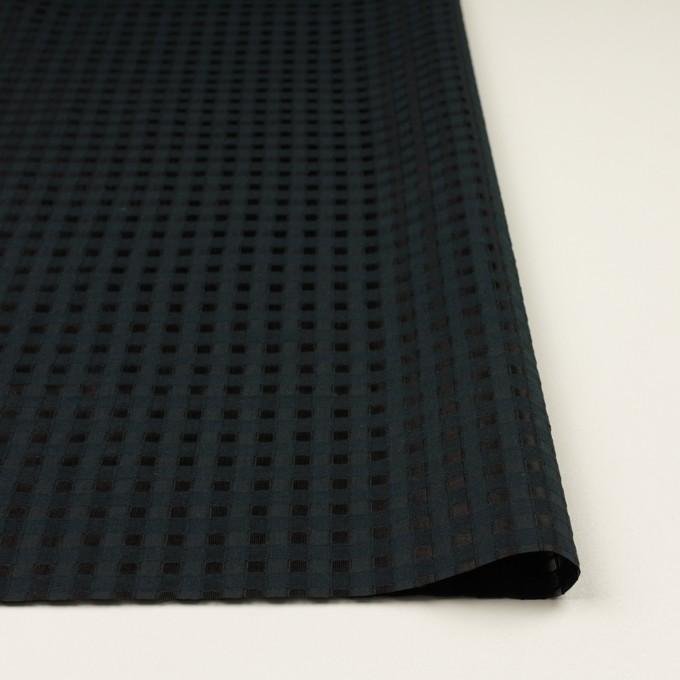 コットン&シルク×チェック(ブラック)×オーガンジー・ジャガード イメージ3