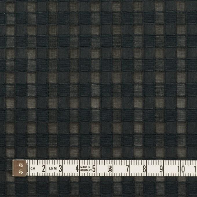 コットン&シルク×チェック(ブラック)×オーガンジー・ジャガード イメージ4