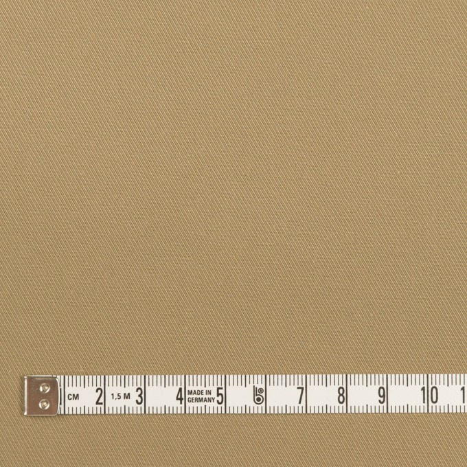 コットン&ポリウレタン×無地(カーキ)×サージストレッチ イメージ4