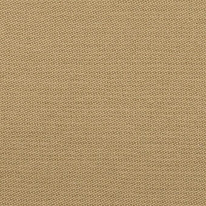 コットン&ポリウレタン×無地(カーキ)×サージストレッチ イメージ1