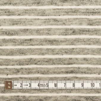リネン×ボーダー(杢グレー&オフホワイト)×天竺ニット_全2色 サムネイル4