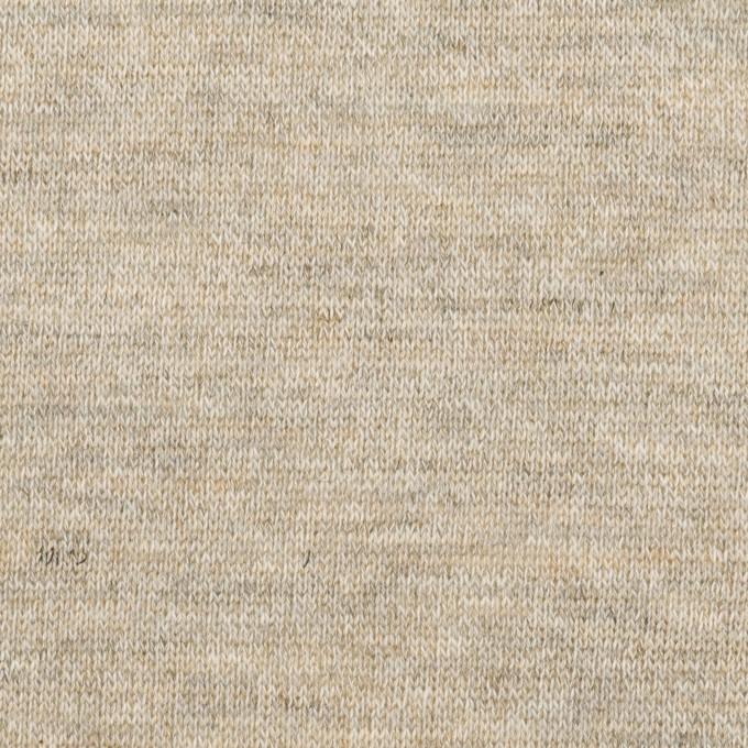 コットン&リネン×無地(オートミール)×天竺ニット_全2色 イメージ1