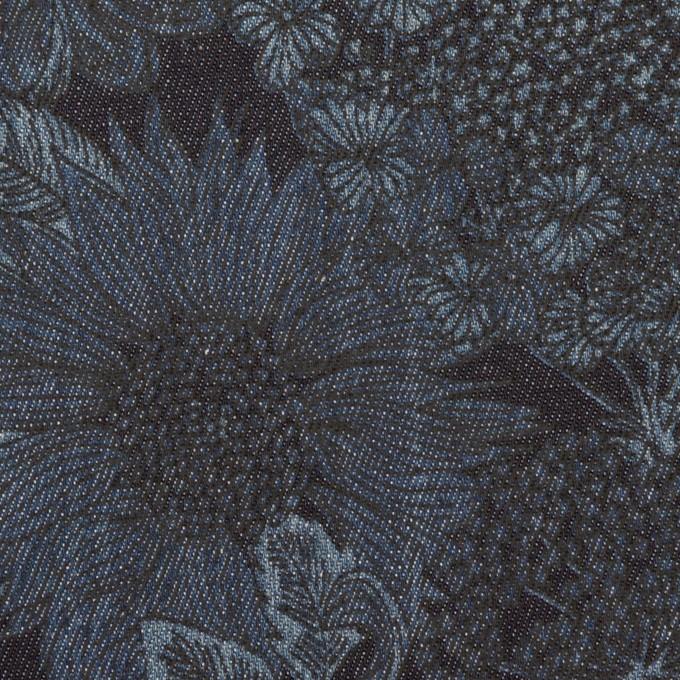 コットン&ポリウレタン×フラワー(インディゴ)×デニムストレッチ(8oz) イメージ1