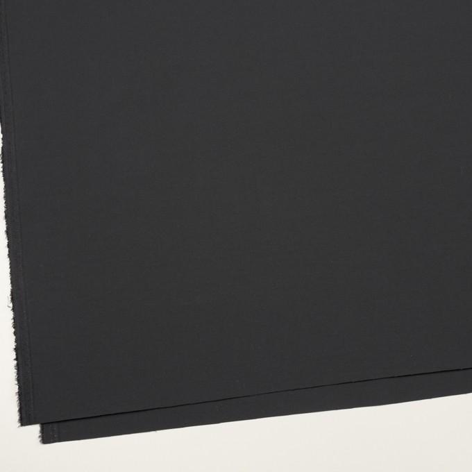 ポリエステル&ナイロン混×無地(チャコール)×ファイユストレッチ イメージ2