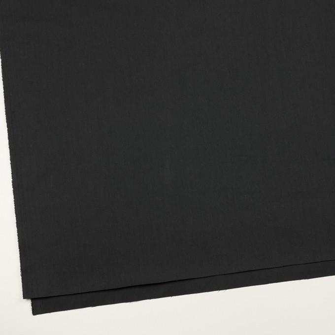 コットン&ポリエステル混×無地(チャコール)×ポプリンストレッチ_イタリア製 イメージ2