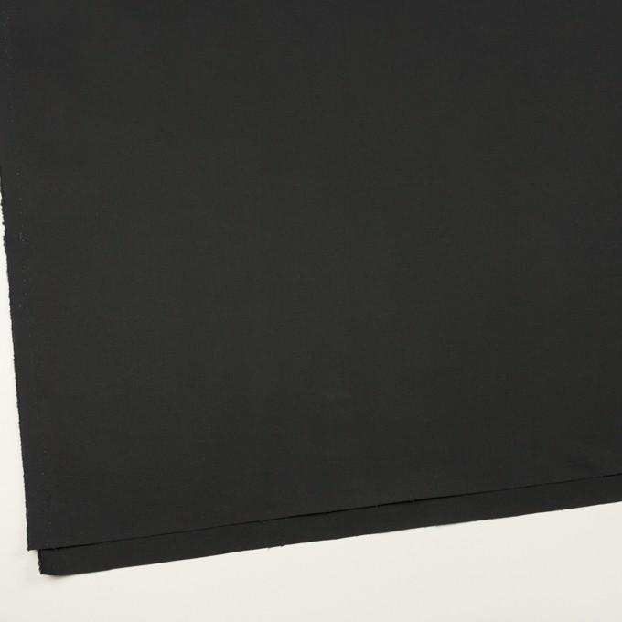 コットン&ポリウレタン×無地(ブラック)×ギャバジン・ストレッチ イメージ2