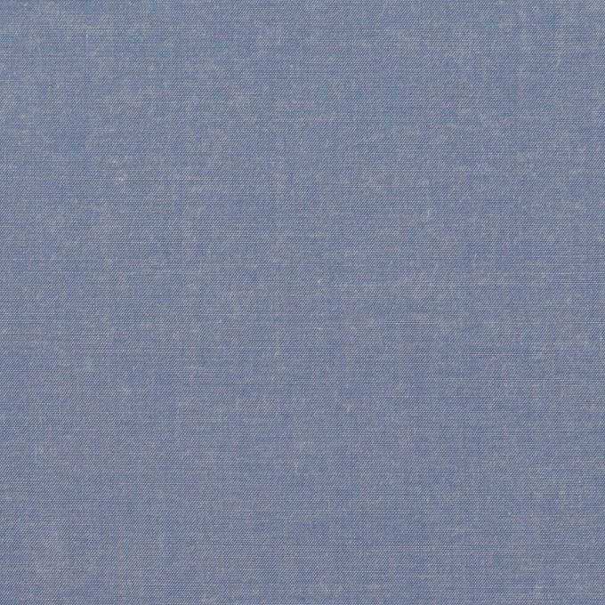 コットン&テンセル×無地(アッシュブルー)×シャンブレー・ローン_全4色 イメージ1