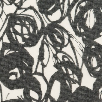 コットン×ペイント(ホワイト&ダークネイビー)×ボイル