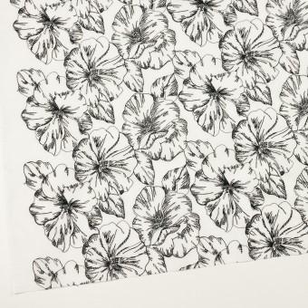 コットン×フラワー(オフホワイト&ブラック)×ローン刺繍_全3色 サムネイル2