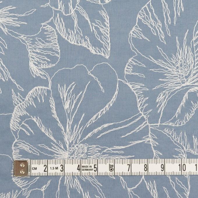 コットン×フラワー(フロスティブルー&オフホワイト)×ローン刺繍_全3色 イメージ4