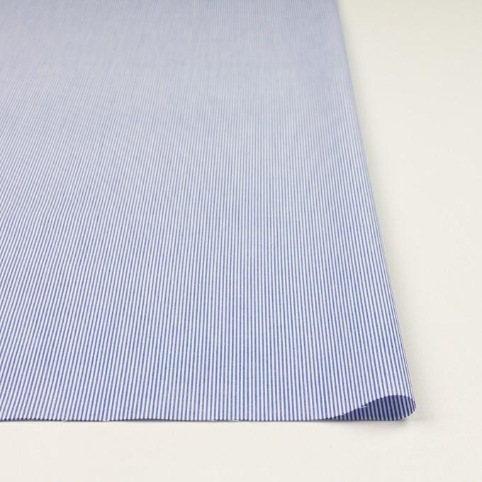 コットン&ポリエステル×ストライプ(ブルー)×ポプリン イメージ3