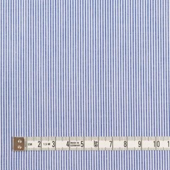コットン&ポリエステル×ストライプ(ブルー)×ポプリン サムネイル4