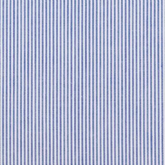 コットン&ポリエステル×ストライプ(ブルー)×ポプリン