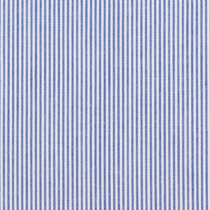 コットン&ポリエステル×ストライプ(ブルー)×ポプリン イメージ1