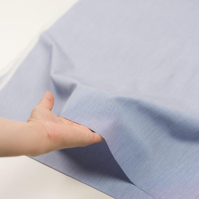 コットン&ポリエステル×ストライプ(ブルー)×ポプリン イメージ5