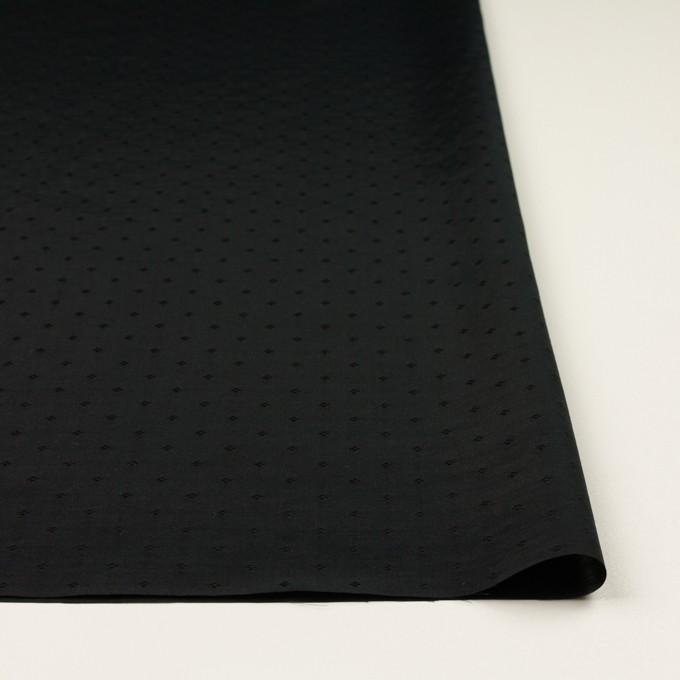 コットン&シルク×小紋(ブラック)×ローンジャガード_全2色 イメージ3