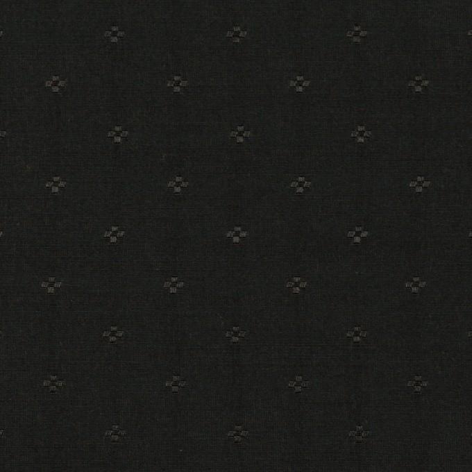 コットン&シルク×小紋(ブラック)×ローンジャガード_全2色 イメージ1