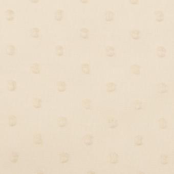 コットン×ドット(キナリ)×ボイルカットジャガード_全2色