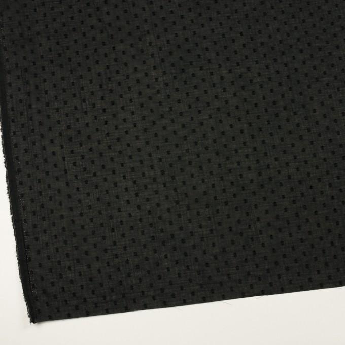 コットン×ドット(ブラック)×ボイルカットジャガード_全2色 イメージ2
