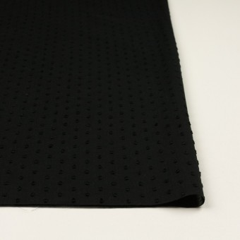コットン×ドット(ブラック)×ボイルカットジャガード_全2色 サムネイル3