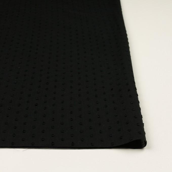 コットン×ドット(ブラック)×ボイルカットジャガード_全2色 イメージ3
