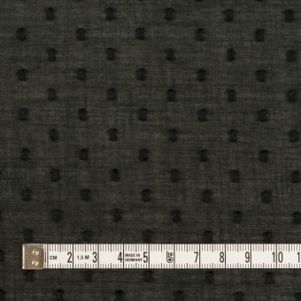 コットン×ドット(ブラック)×ボイルカットジャガード_全2色 サムネイル4