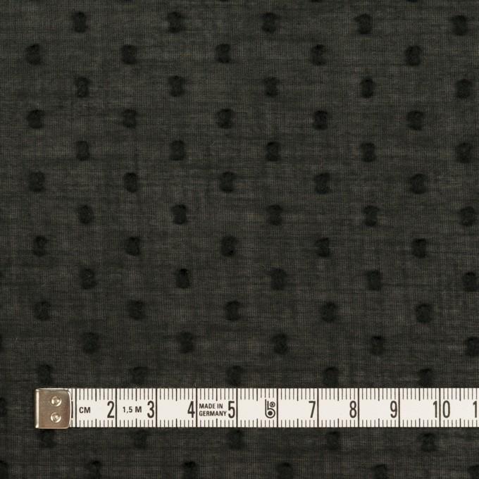 コットン×ドット(ブラック)×ボイルカットジャガード_全2色 イメージ4