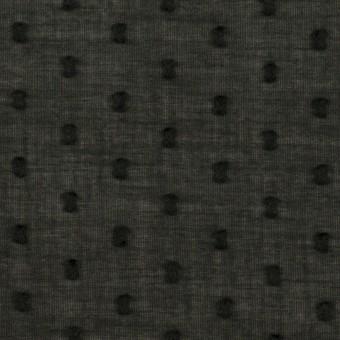 コットン×ドット(ブラック)×ボイルカットジャガード_全2色