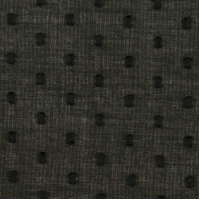 コットン×ドット(ブラック)×ボイルカットジャガード_全2色 イメージ1