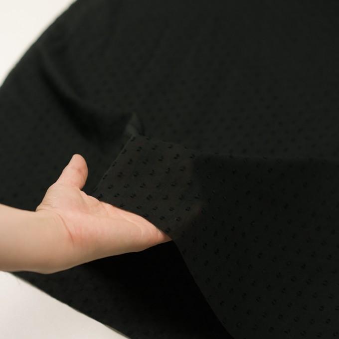 コットン×ドット(ブラック)×ボイルカットジャガード_全2色 イメージ5