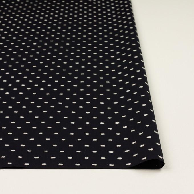 コットン×ドット(ブラック&オフホワイト)×ローンカットジャガード イメージ3