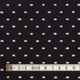 コットン×ドット(ブラック&オフホワイト)×ローンカットジャガード サムネイル4