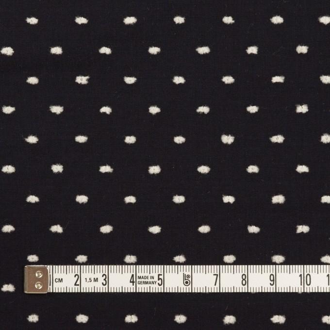 コットン×ドット(ブラック&オフホワイト)×ローンカットジャガード イメージ4