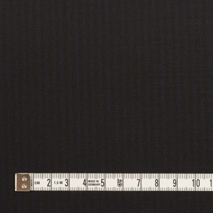 コットン&レーヨン混×ストライプ(ダークネイビー&ブラック)×サージストレッチ イメージ4