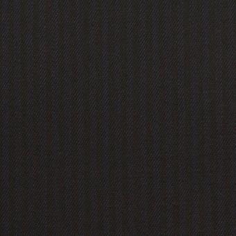 コットン&レーヨン混×ストライプ(ダークネイビー&ブラック)×サージストレッチ