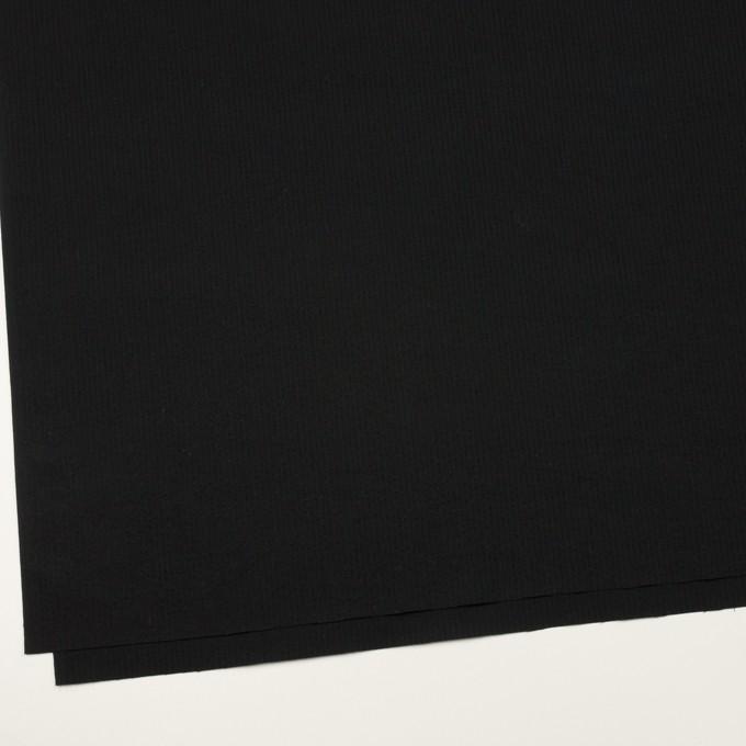 コットン×無地(ブラック)×サッカー イメージ2