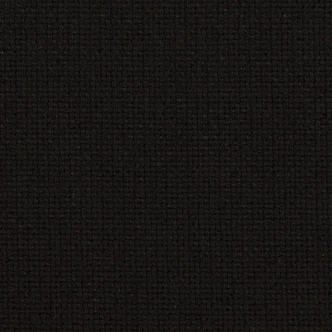 コットン×無地(ブラック)×斜子織 イメージ1