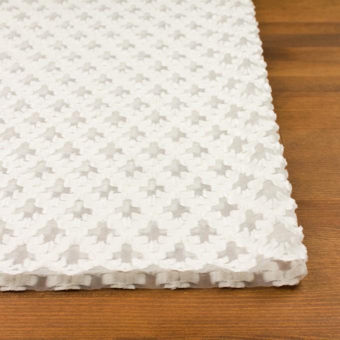 コットン&ナイロン×幾何学模様(オフホワイト)×オーガンジー・カットジャガード イメージ3