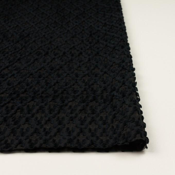 コットン&ナイロン×幾何学模様(ブラック)×オーガンジー・カットジャガード イメージ3