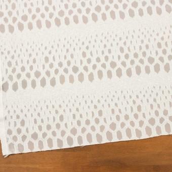 レーヨン&シルク×幾何学模様(オフホワイト)×ジョーゼット・カットジャガード サムネイル2