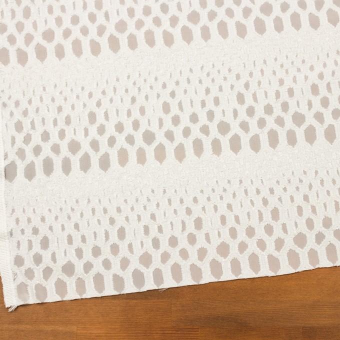 レーヨン&シルク×幾何学模様(オフホワイト)×ジョーゼット・カットジャガード イメージ2