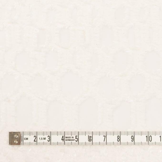 レーヨン&シルク×幾何学模様(オフホワイト)×ジョーゼット・カットジャガード イメージ4