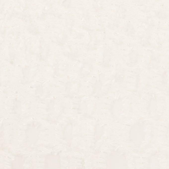 レーヨン&シルク×幾何学模様(オフホワイト)×ジョーゼット・カットジャガード イメージ1