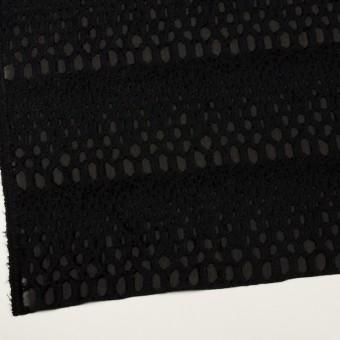 レーヨン&シルク×幾何学模様(ブラック)×ジョーゼット・カットジャガード サムネイル2