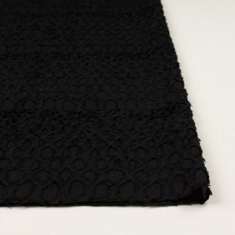 レーヨン&シルク×幾何学模様(ブラック)×ジョーゼット・カットジャガード サムネイル3